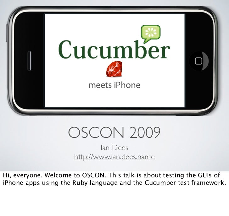 Cucumber meets iPhone