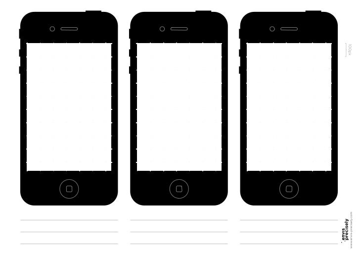 Free iPhone Sketch Template