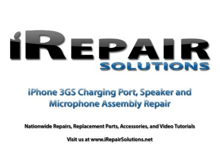 iPhone 3gs Charging Port Replacement Tutorial
