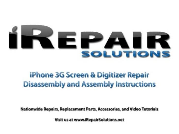 iPhone 3g Screen Repair Tutorial