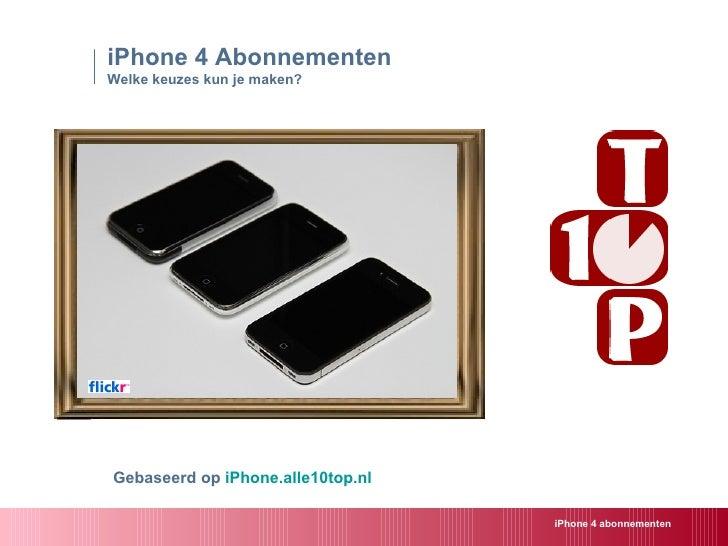 iPhone 4 - abonnementen in Nederland