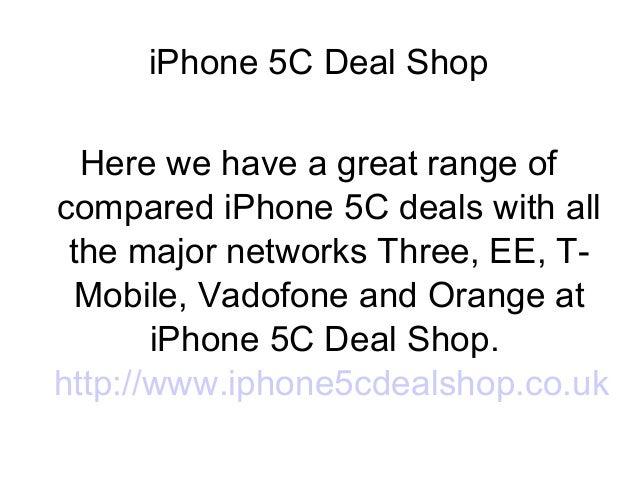 iPhone 5c deal shop