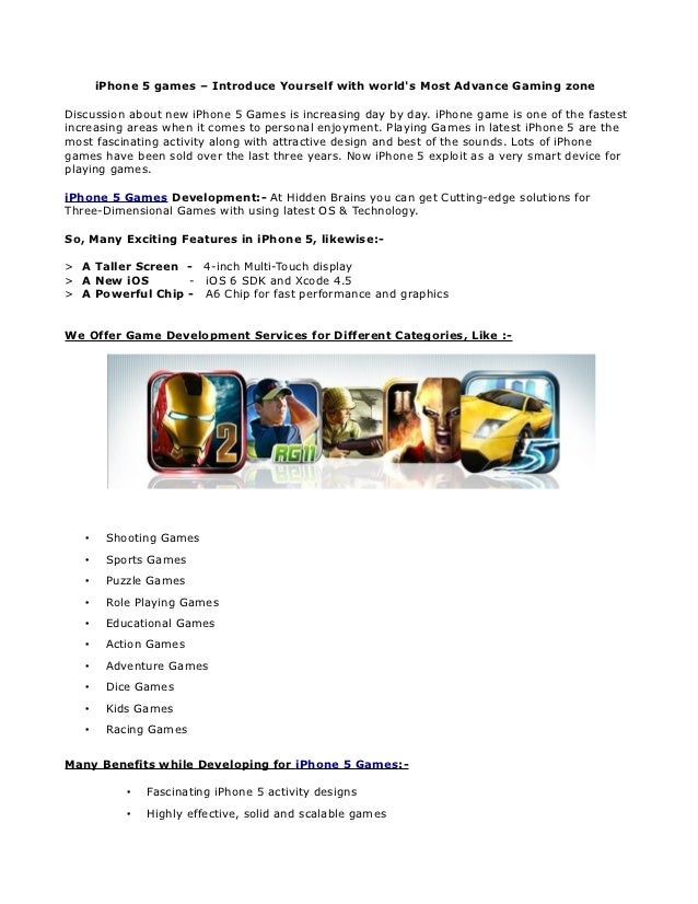 iPhone 5 games – Introduce Yourself with world's Most Advance Gaming zone