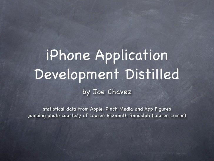 iPhone Application Development Distilled