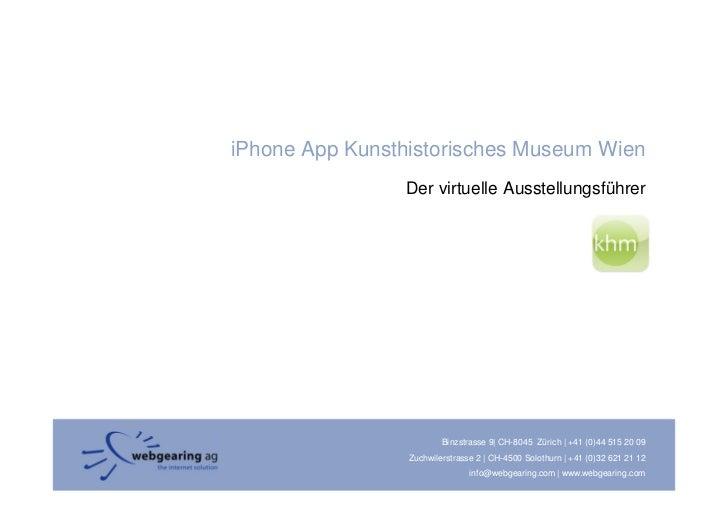 iPhone App Kunsthistorisches Museum Wien                 Der virtuelle Ausstellungsführer                              Bin...
