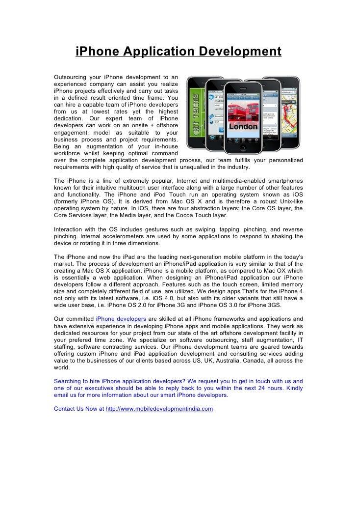 iPhone Development - iPhone Developers - iPhone Mobile Programming