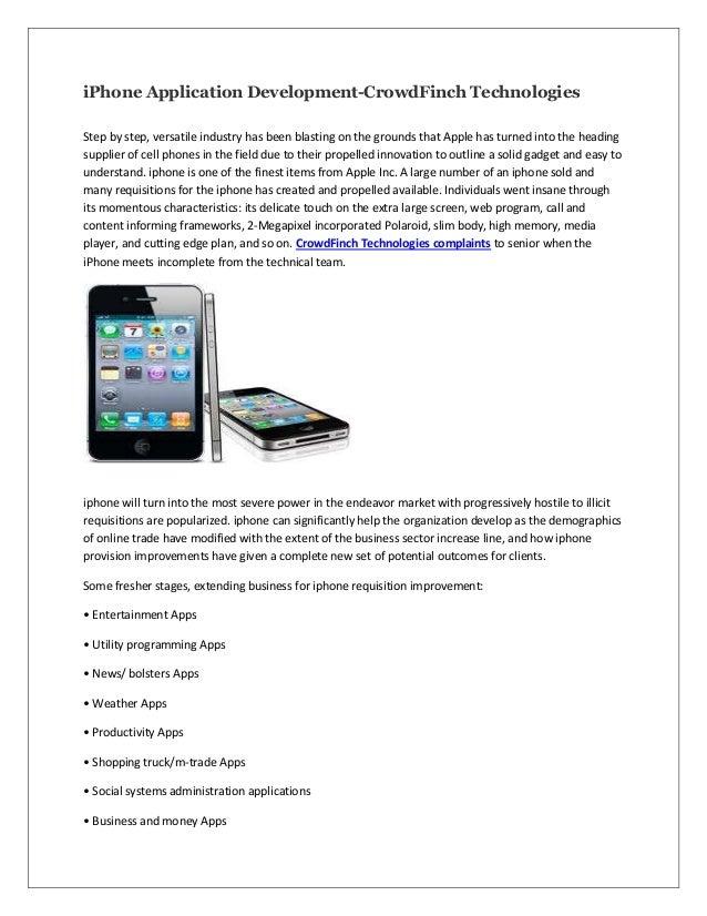 I phone application development crowdfinch technologies