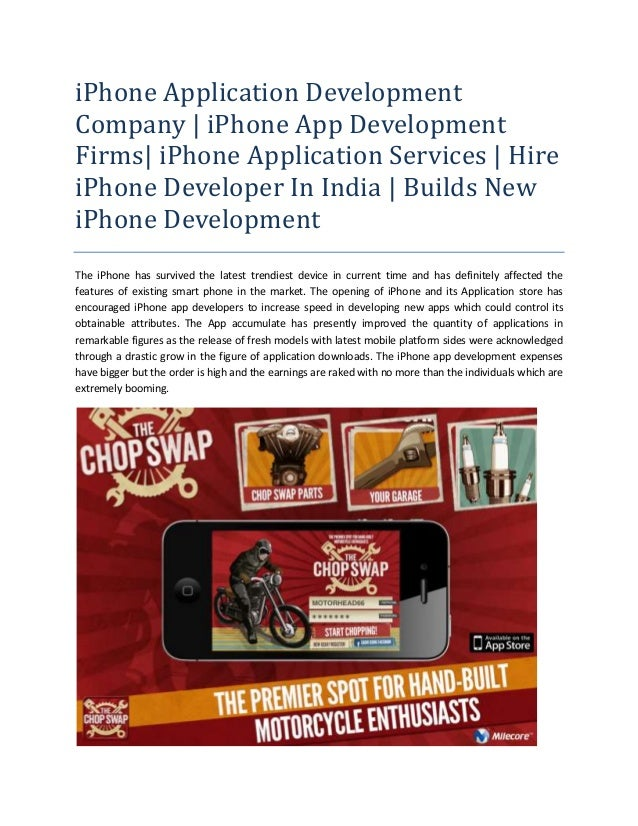 iPhone Application Development Company | iPhone App Development Firms| iPhone Application Services | Hire iPhone Developer In India | Builds New iPhone Development