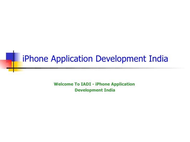 I Phone  Application  Development  India