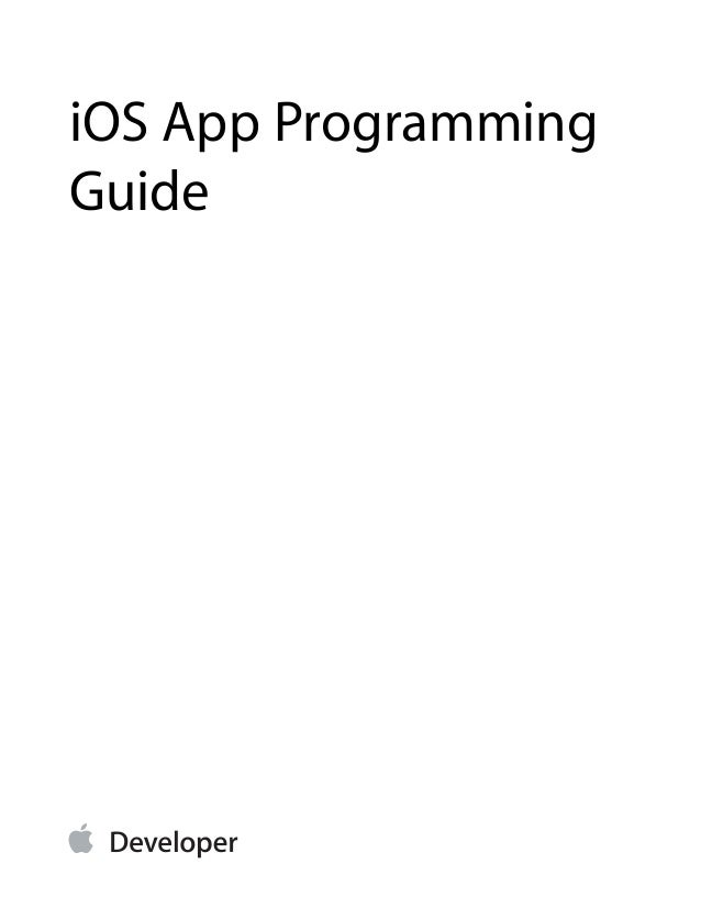 Apple iPhone App Programming Guide