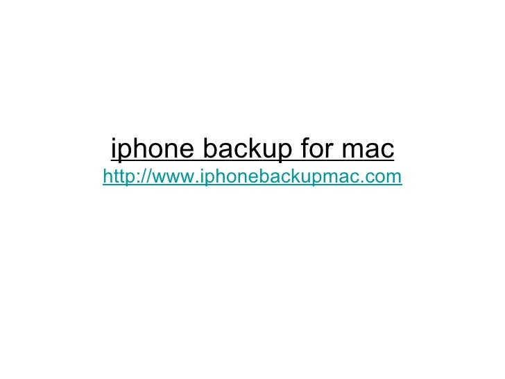 iphone backup for mac