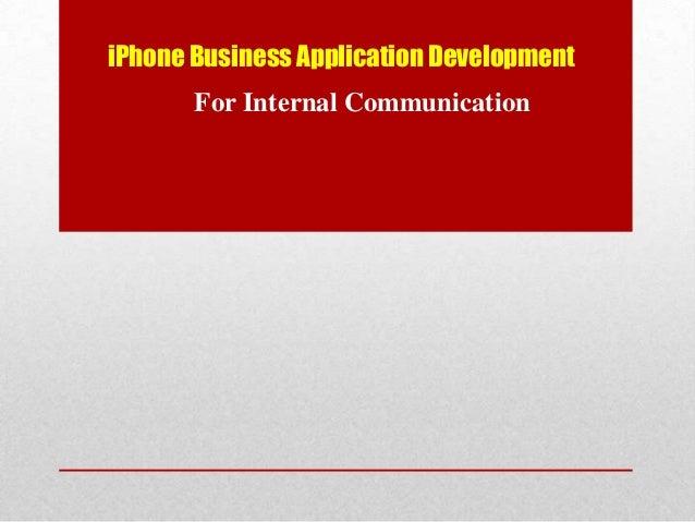 iPhone Business Application Development