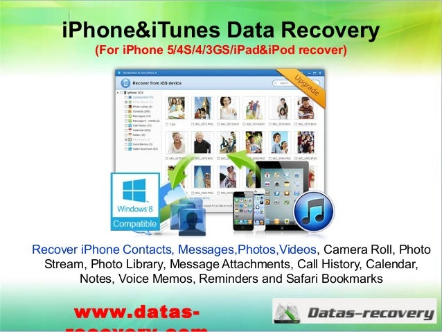 iPhone&iTunes Data Recovery (For iPhone 5/4S/4/3GS/iPad&iPod recover) Recover iPhone Contacts, Messages,Photos,Videos, Cam...