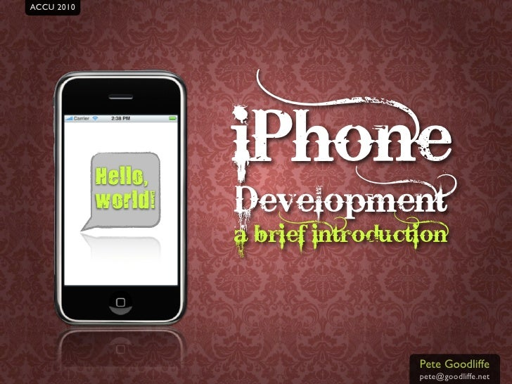 iPhone development: A brief introduction