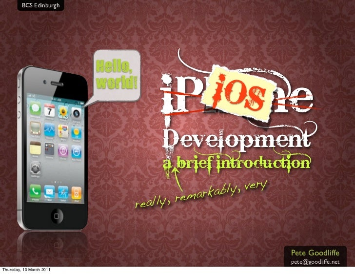 iOS Development (BCS Edinburgh 2011-03-09)