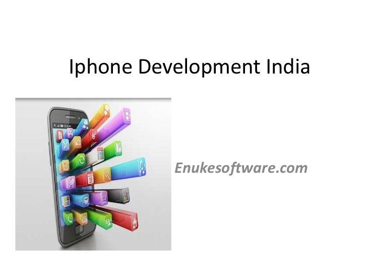 Iphone Development India          Enukesoftware.com