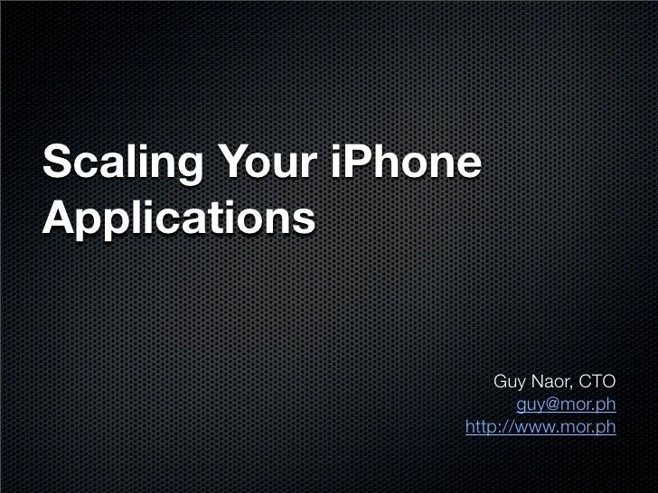 I Phone Dev Summit Prezo Guy Naor Final