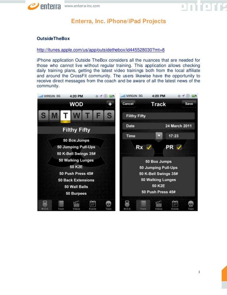 Enterra, Inc. iPhone/iPad Projects