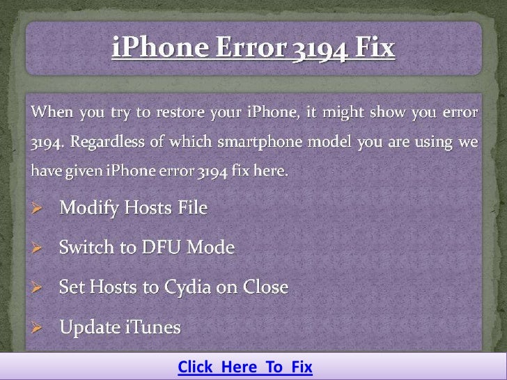 Click Here To Fix