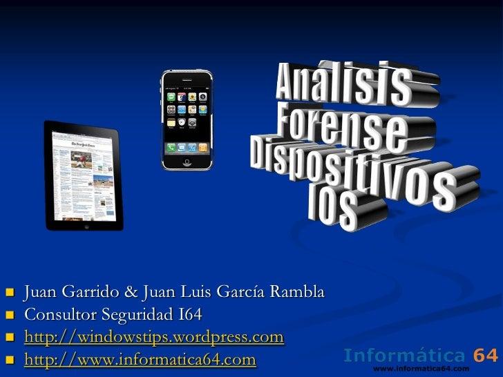 Análisis Forense de teléfonos iPhone/iPad