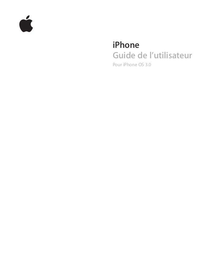iPhone 3GS Guide de l'utilisateur (Francais)
