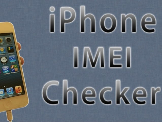 Checker your IMEI NOW: http://bit.ly/IMEI-Checker
