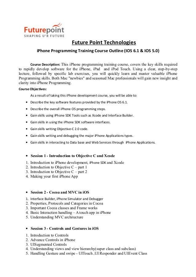 I phone ios training from hyderabad