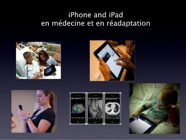 Utilisation du iPhone et iPad en médecine et en réadaptation