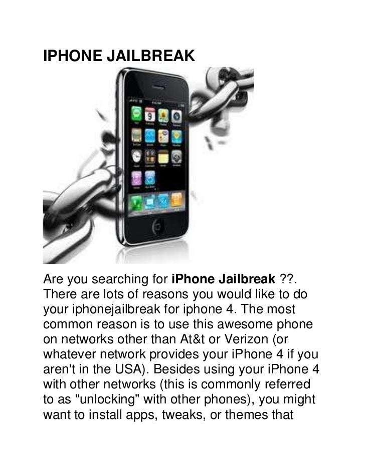 IPHONE JAILBREAK<br />Are you searching for iPhone Jailbreak ??. There are lots of reasons you would like to do your iphon...