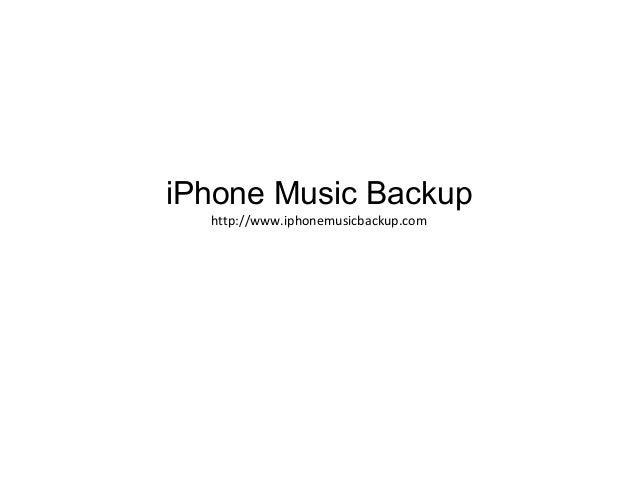 iPhone Music Backup http://www.iphonemusicbackup.com