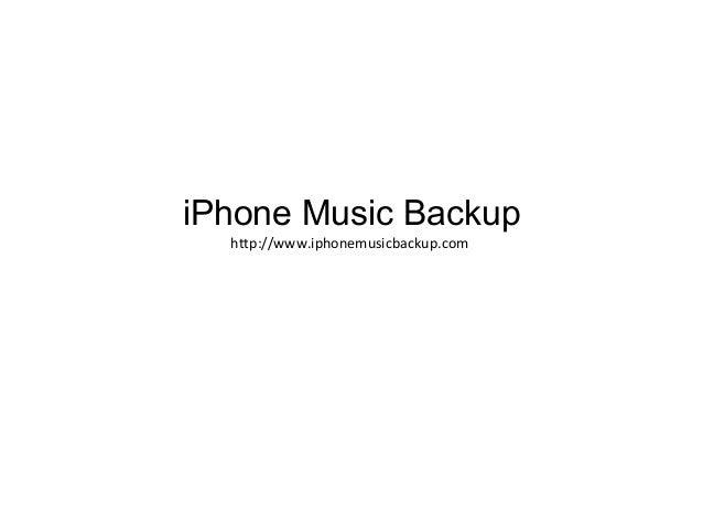 IPhone musica backup
