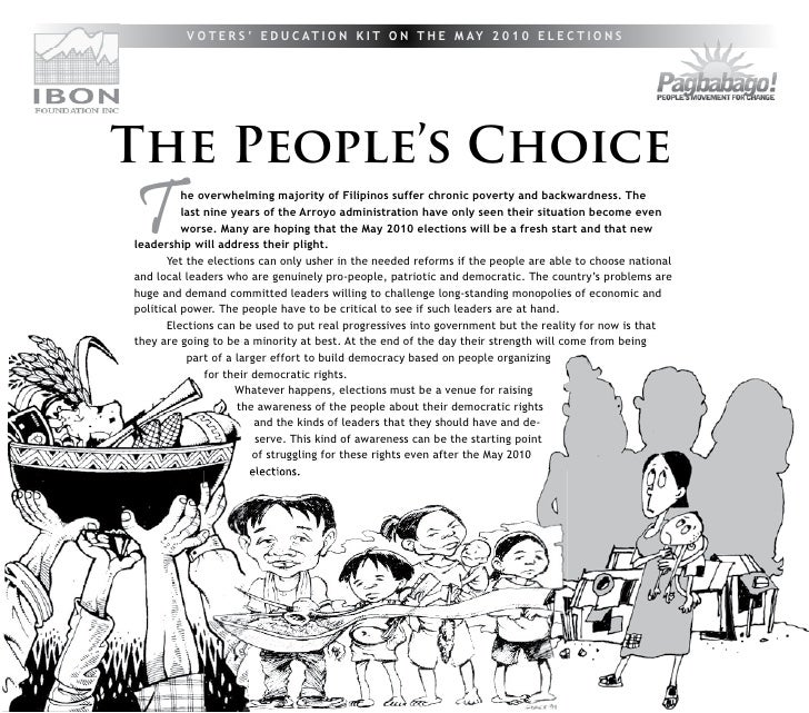 People's Choice and Voters Education Kit