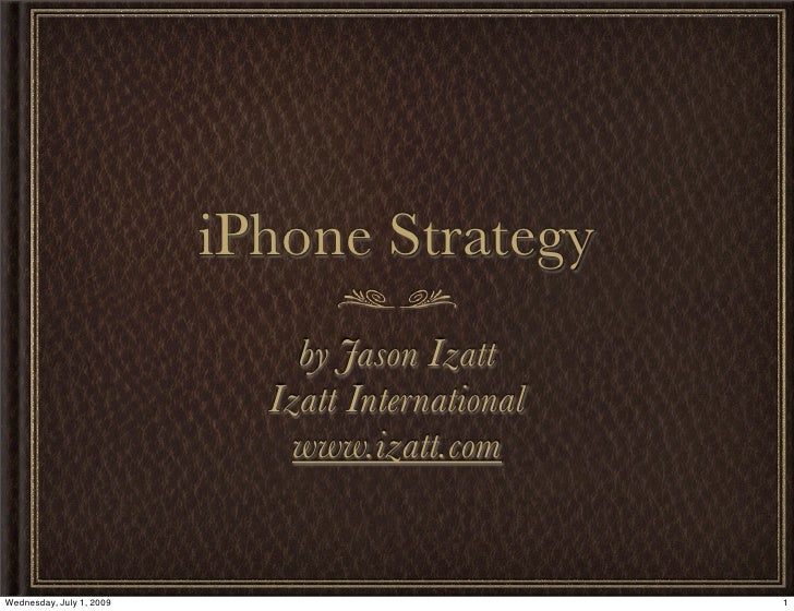 iPhone App Strategy