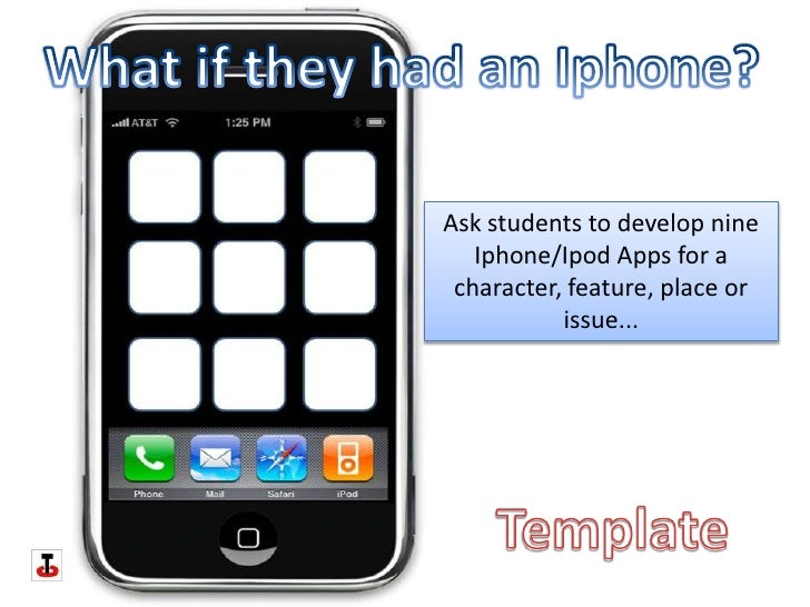 What if they had an Iphone?<br />Ask students to develop nine Iphone/Ipod Apps for a character, feature, place or issue......