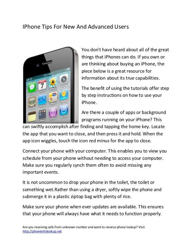 I phone tips for new and advanced users