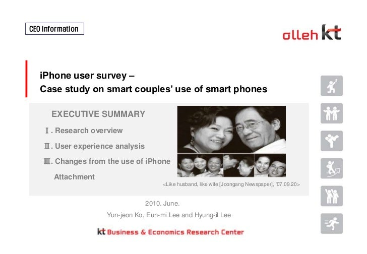 I phone user survey case study on smart couples' use of smart phones