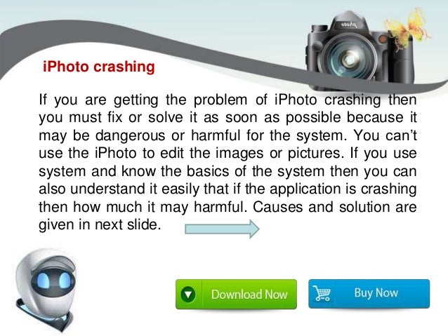 how to fix iphoto from crashing
