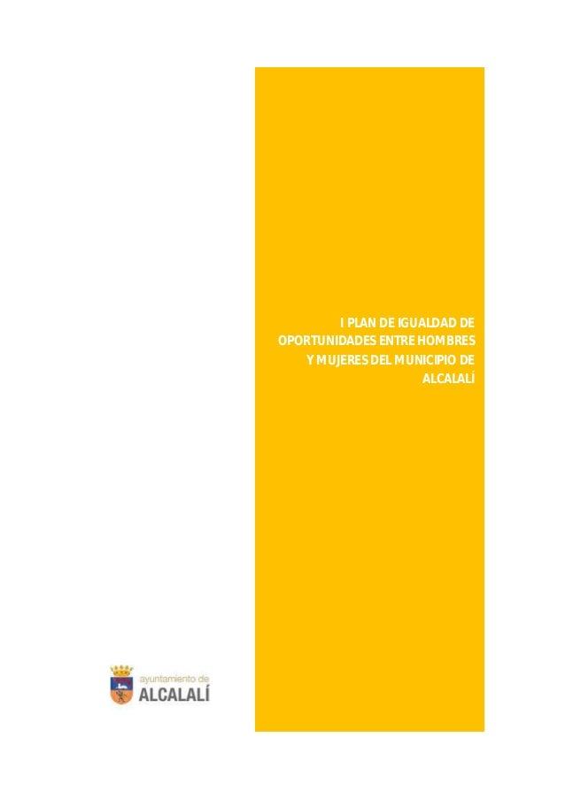 I PLAN DE IGUALDAD DE HOMBRES Y MUJERES DEL MUNICIPIO DE ALCALALÍ