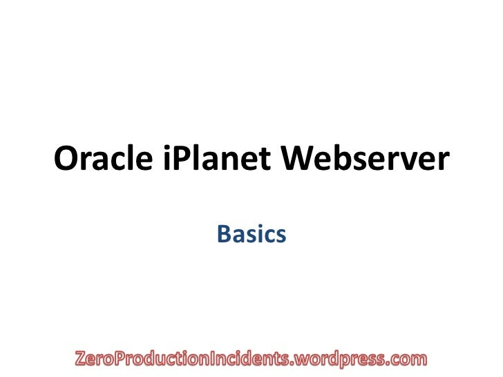 iPlanet basics