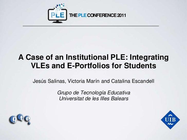 iPLE: Integrating VLE and ePortfolios