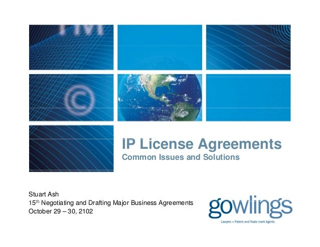 IP License Agreements                                  Li      A       t                               Common Issues and S...