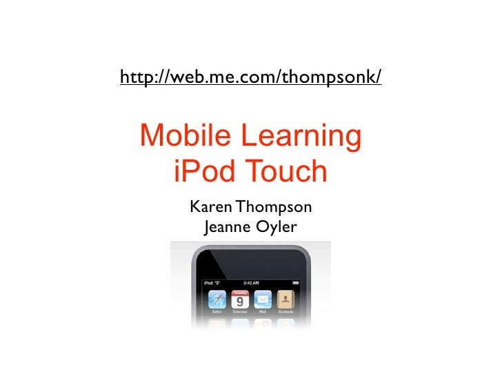 Mobile Learning: iPod Touch
