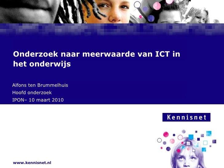 Onderzoek naar meerwaarde van ICT in het onderwijs