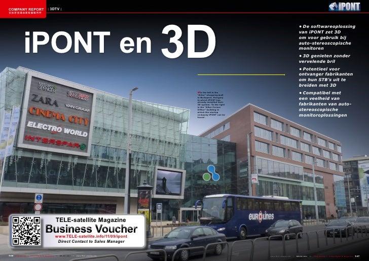 COMPANY REPORT                         3DTV              iPONT en 3D该独家报道由高级编辑所作                                          ...