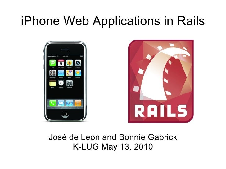 iPhone Web Development and Ruby On Rails