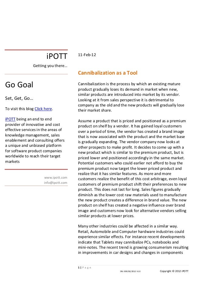 iPOTT          11-Feb-12                 Getting you there…                                         Cannibalization as a T...