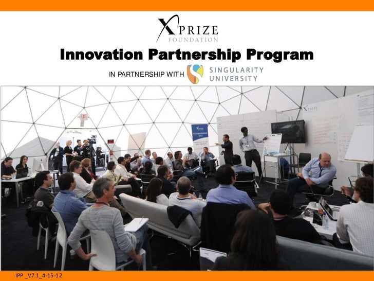 Innovation Partnership Program                     IN PARTNERSHIP WITHIPP _V7.1_4-15-12