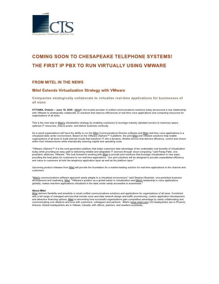 Ip Pbx Virtualization At Chesapeake Telephone Systems (2)