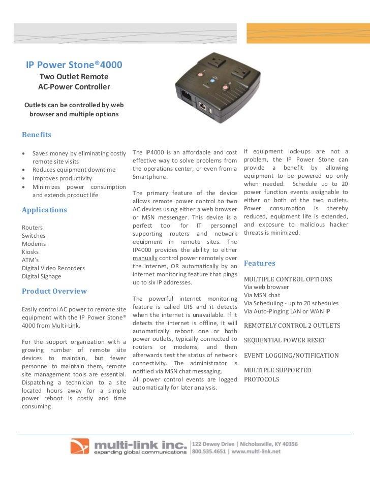 IP power stone 4000v.5