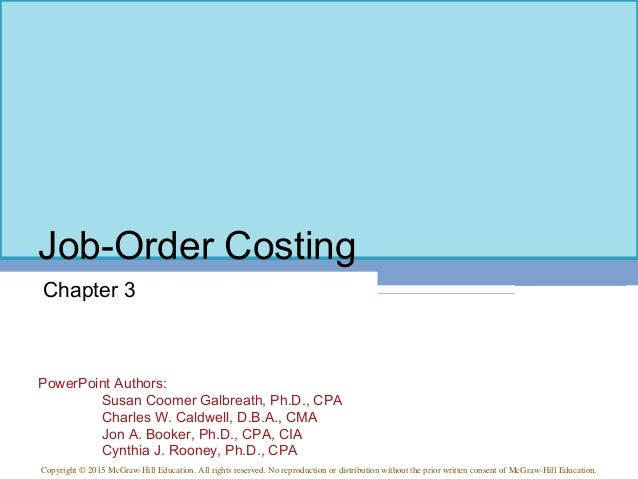 Managerial Accounting 15th ed Chapter 3